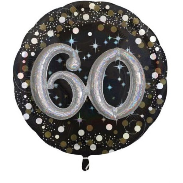 """60"" Sparkling Celebration 3D Multi-Folienballon 81 cm-0"