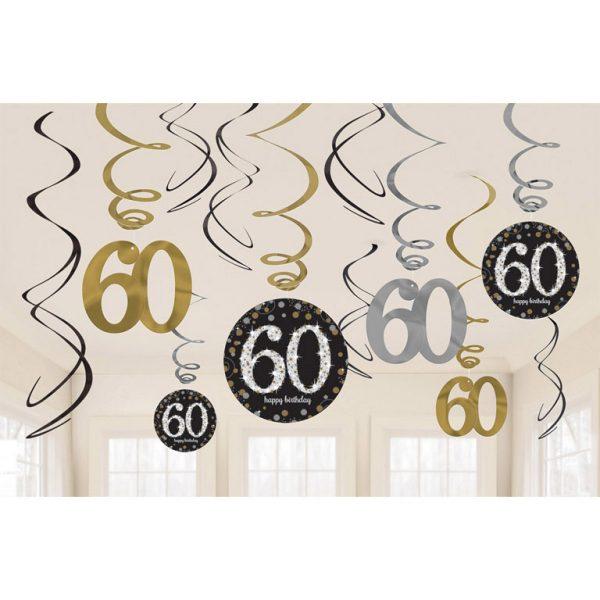 """60"" Deko-Spirale Sparkling Celebration 12 Stk.-0"