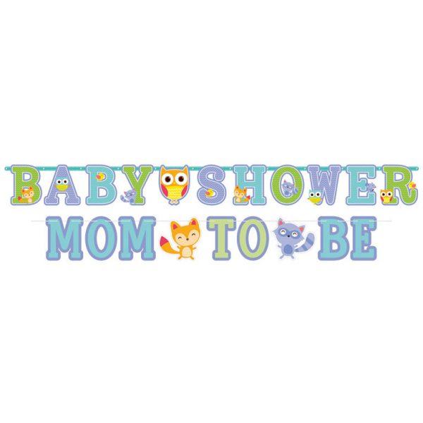 2 Girlanden Baby Shower Mom to Be Woodland Baby-5718
