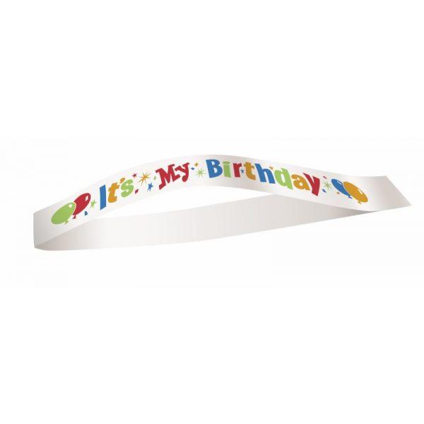 It's My Birthday Schärpe Weiss-5720