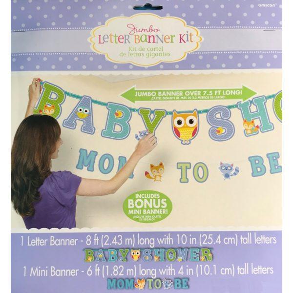 2 Girlanden Baby Shower Mom to Be Woodland Baby-0