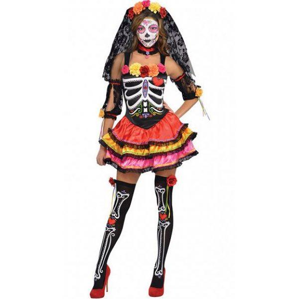 Tag der Toten Damen Kostüm Gr. XL -0