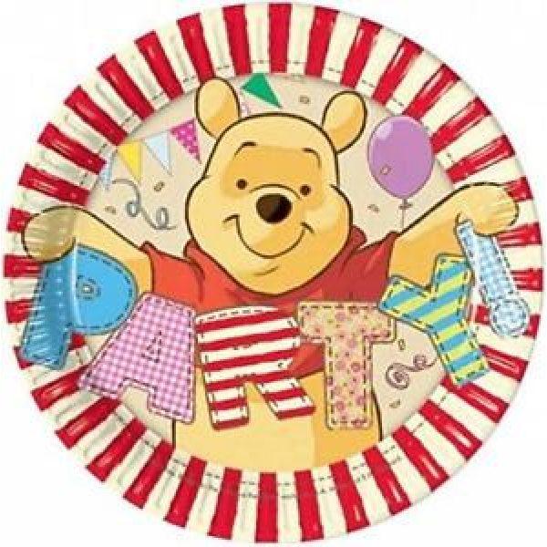8 Winnie Puuh Pappteller klein-0