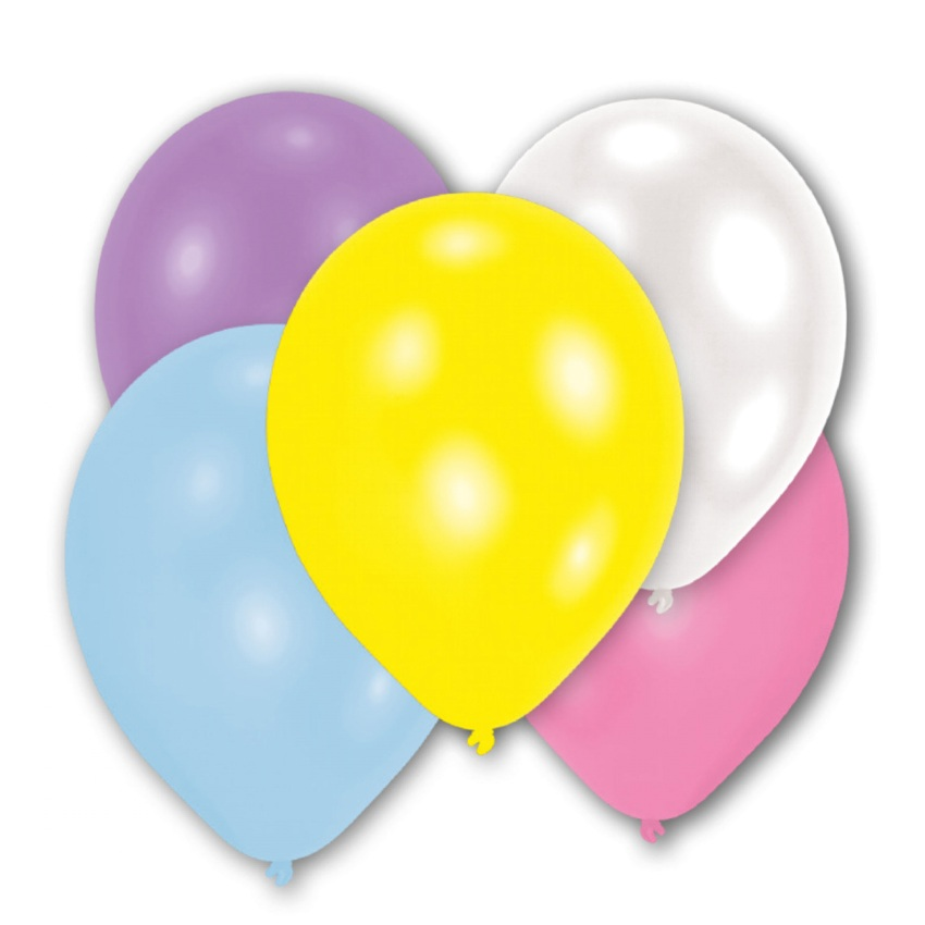 10 Pearl Pastell Luftballons 28 cm-0