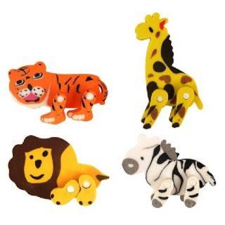 Dschungel Tiere Radiergummi Löwe Tiger Giraffe Zebra-0