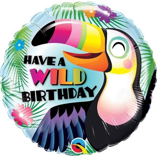 Tukan Have a Wild Birthday Folienballon 45 cm-0