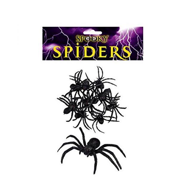 9 Grosse Grusel-Spinnen 7 cm-0