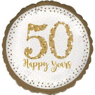 50 Happy Years Folienballon 45 cm-0