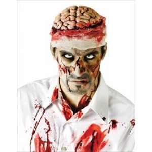 Blutiger Gehirn Hut Kostümzubehör-0