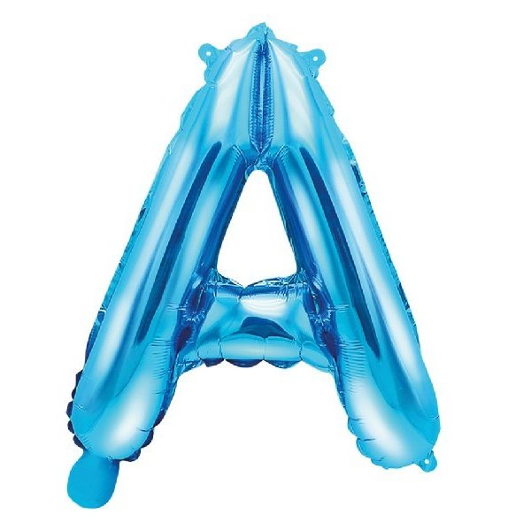 Buchstabe A Blau Luftballon 35 cm-0