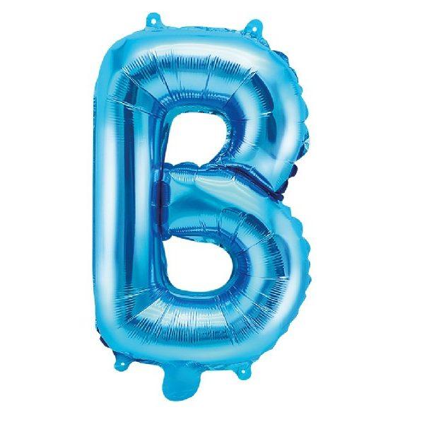 Buchstabe B Blau Luftballon 35 cm-0