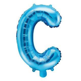 Buchstabe C Blau Luftballon 35 cm-0