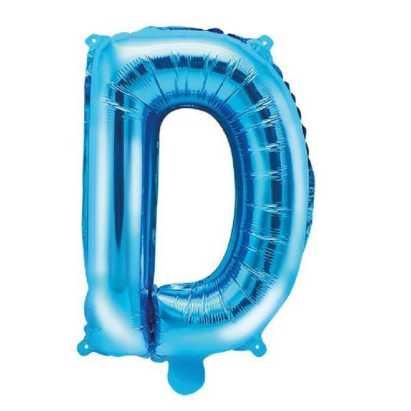 Buchstabe D Blau Luftballon 35 cm-0