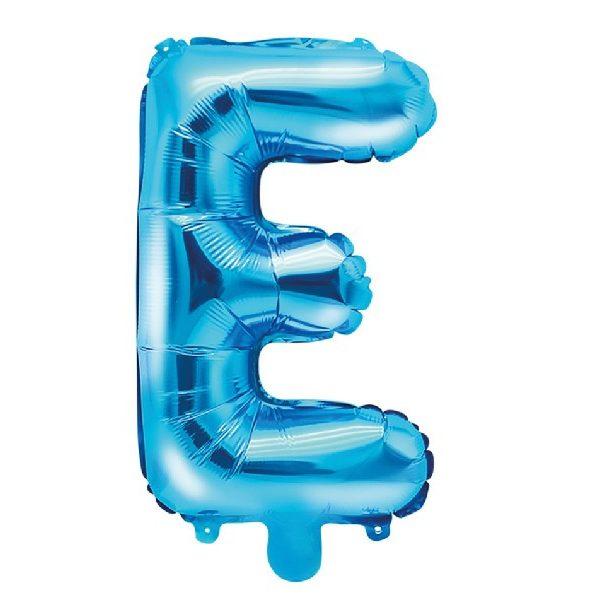 Buchstabe E Blau Luftballon 35 cm-0