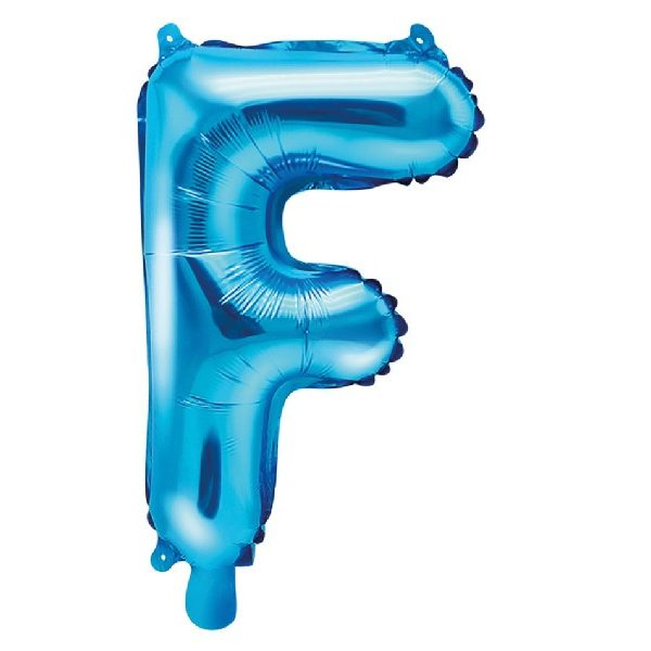 Buchstabe F Blau Luftballon 35 cm-0
