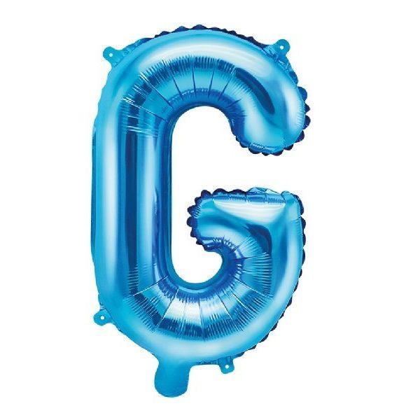 Buchstabe G Blau Luftballon 35 cm-0