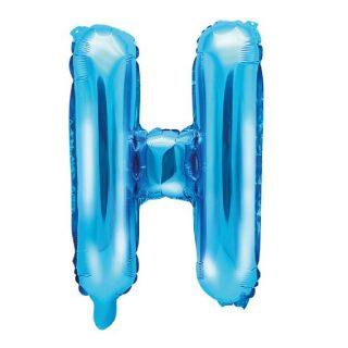 Buchstabe H Blau Luftballon 35 cm-0