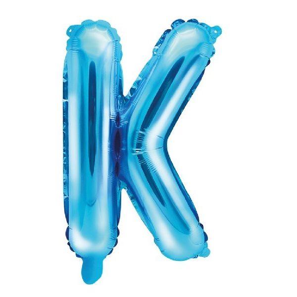 Buchstabe K Blau Luftballon 35 cm-0