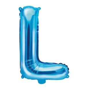 Buchstabe L Blau Luftballon 35 cm-0