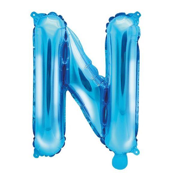 Buchstabe N Blau Luftballon 35 cm-0