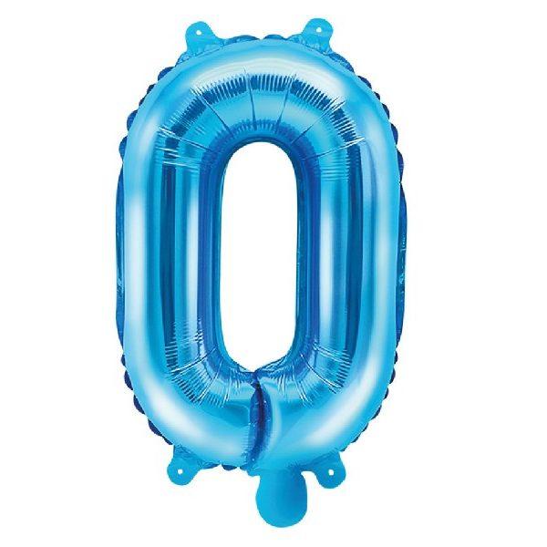 Buchstabe O Blau Luftballon 35 cm-0