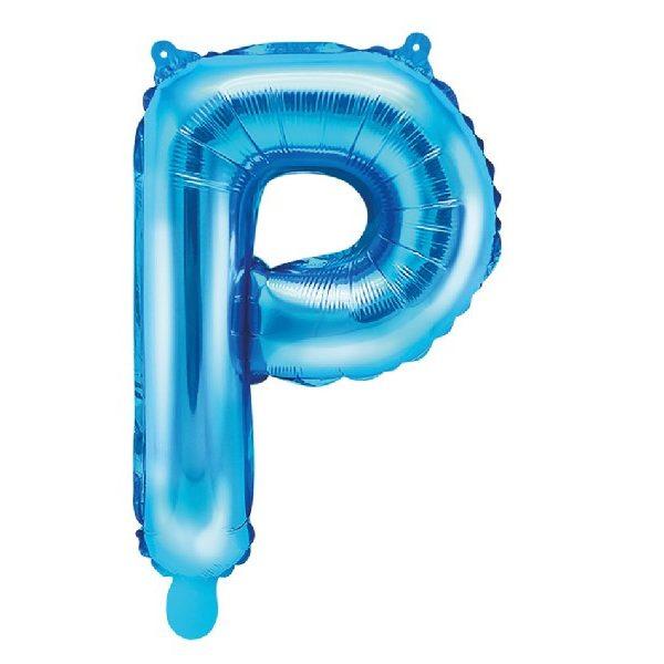 Buchstabe P Blau Luftballon 35 cm-0