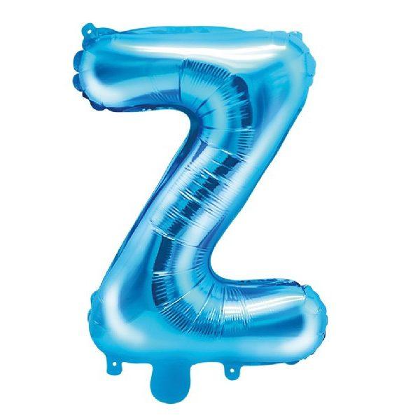 Buchstabe Z Blau Luftballon 35 cm-0