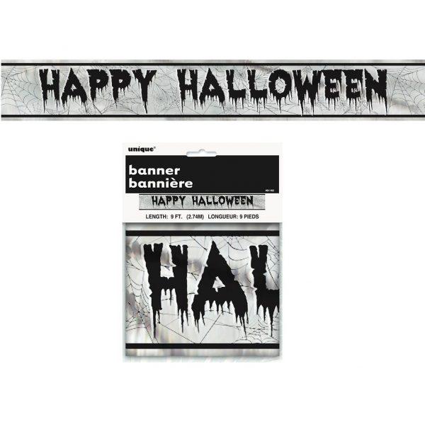 Happy Halloween Girlande mit Wabendeko -6463