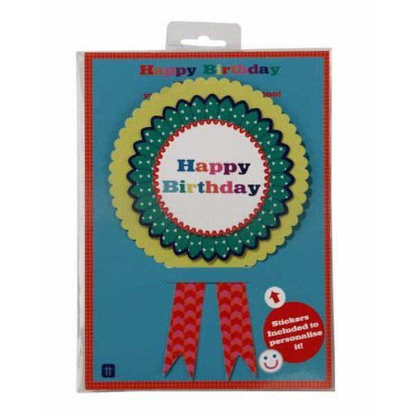 """""""Add an Age"""" Happy Birthday Badge XL Rosette-0"""