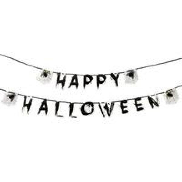 Happy Halloween Girlande mit Wabendeko -6465