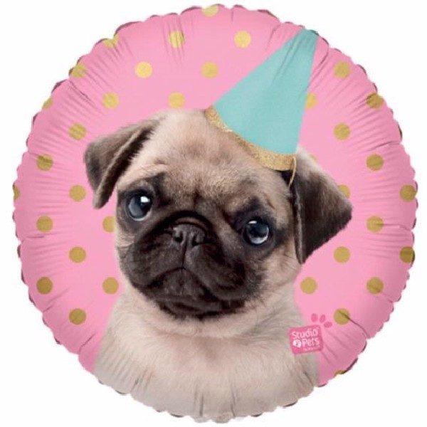 Party Pug Folienballon 45 cm-0
