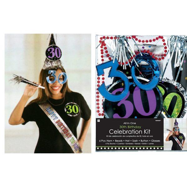30. Geburtstag Celebration Party Kit 6 tlg.-0