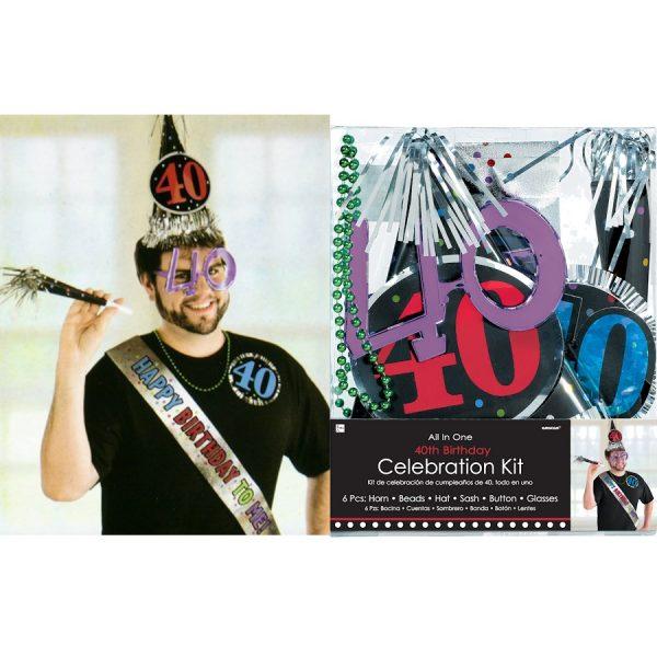 40. Geburtstag Celebration Party Kit 6 tlg.-0