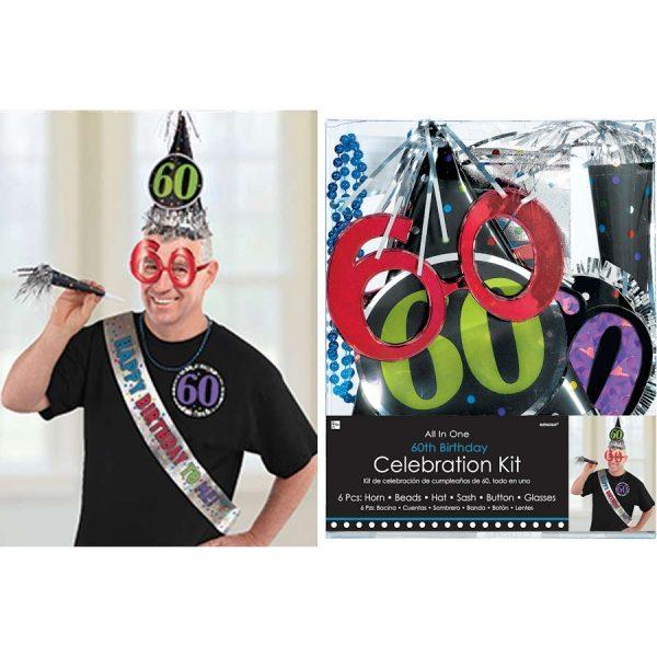 60. Geburtstag Celebration Party Kit 6 tlg.-0