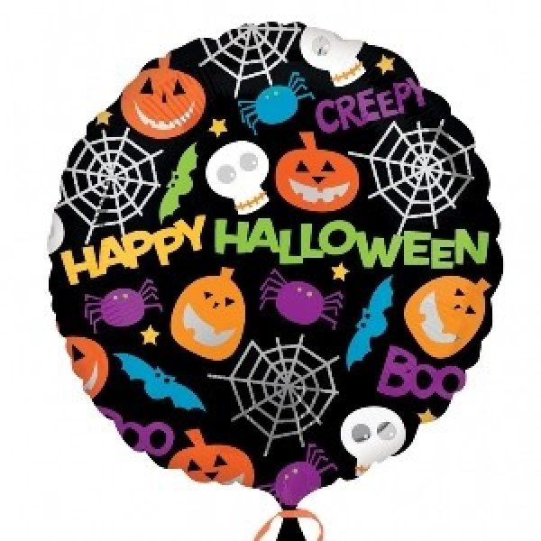 Bunter Happy Halloween Folienballon 45 cm-0