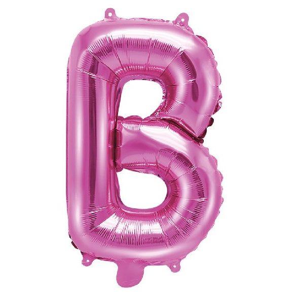 Buchstabe B Pink Luftballon 35 cm-0