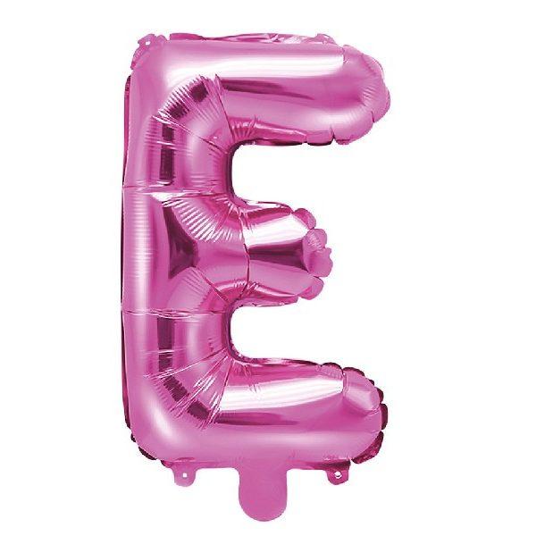 Buchstabe E Pink Luftballon 35 cm-0