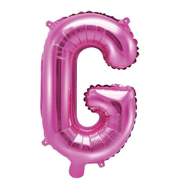 Buchstabe G Pink Luftballon 35 cm-0