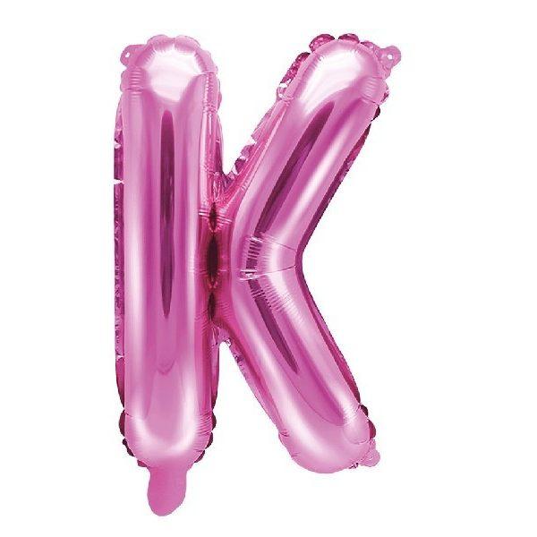 Buchstabe K Pink Luftballon 35 cm-0