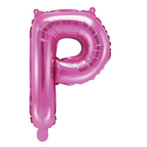 Buchstabe P Pink Luftballon 35 cm-0