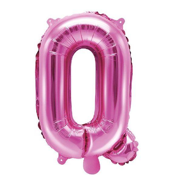 Buchstabe Q Pink Luftballon 35 cm-0