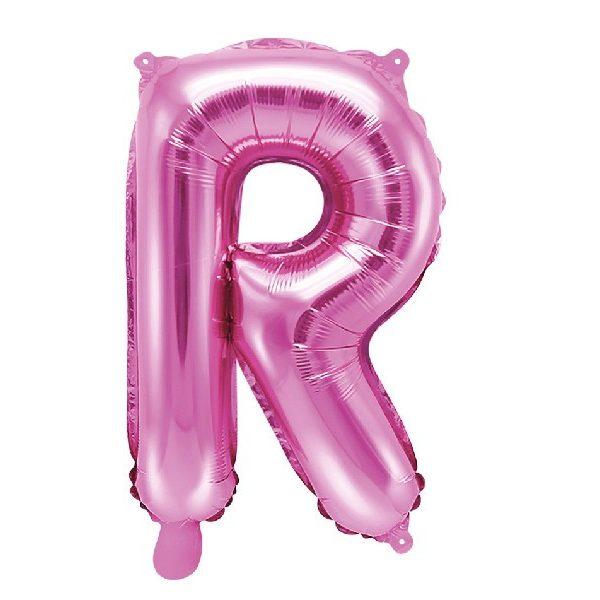 Buchstabe R Pink Luftballon 35 cm-0