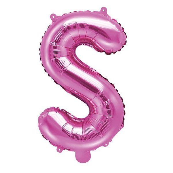 Buchstabe S Pink Luftballon 35 cm-0