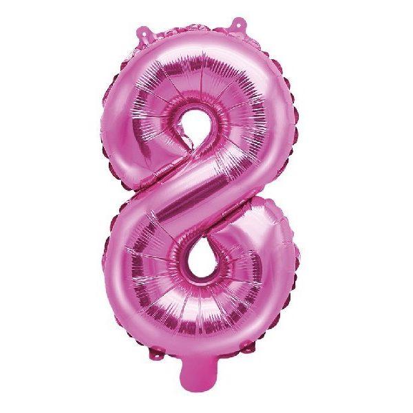Zahl 8 Pink Luftballon 35 cm-0