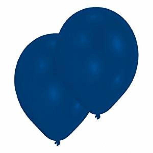 10 Royal Blau Latex Ballons 28 cm-0