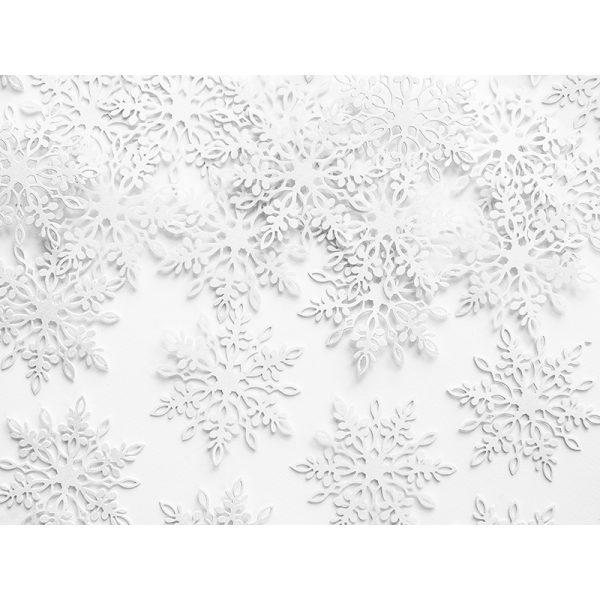 Schneeflocken Konfetti Perlweiss 20 Stk.-6650