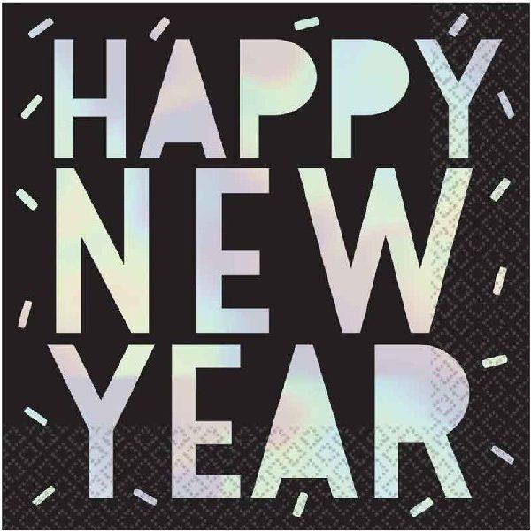 16 Happy New Year Folierte Servietten-0