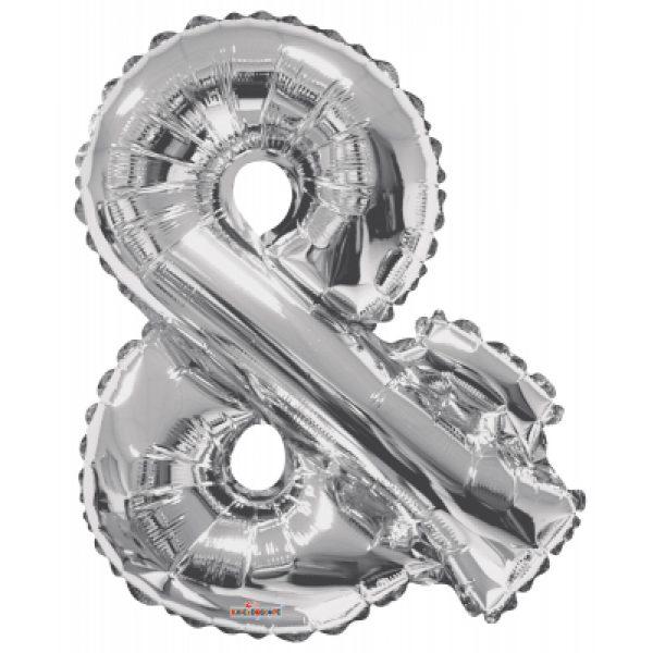 Buchstabe Fragezeichen Symbol ? Silber Folienballon 87 cm-0
