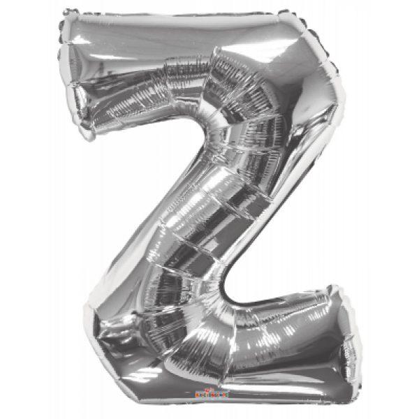 Z Buchstabe Silber Folienballon 87 cm-0