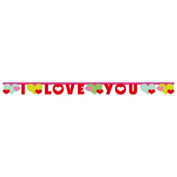 I Love You Girlande Lovely Moments 170 cm-0